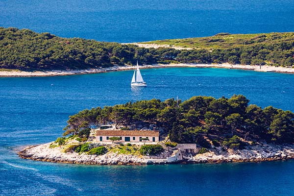 Sailing Route From Trogir Kastela Split
