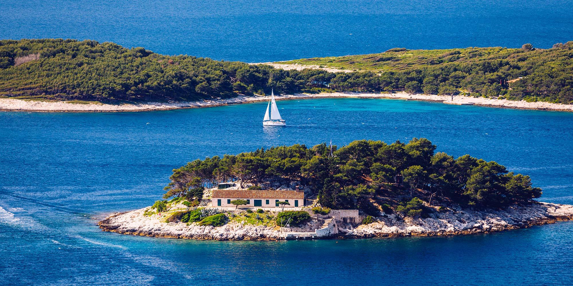Segelroute von Trogir Kastela Split