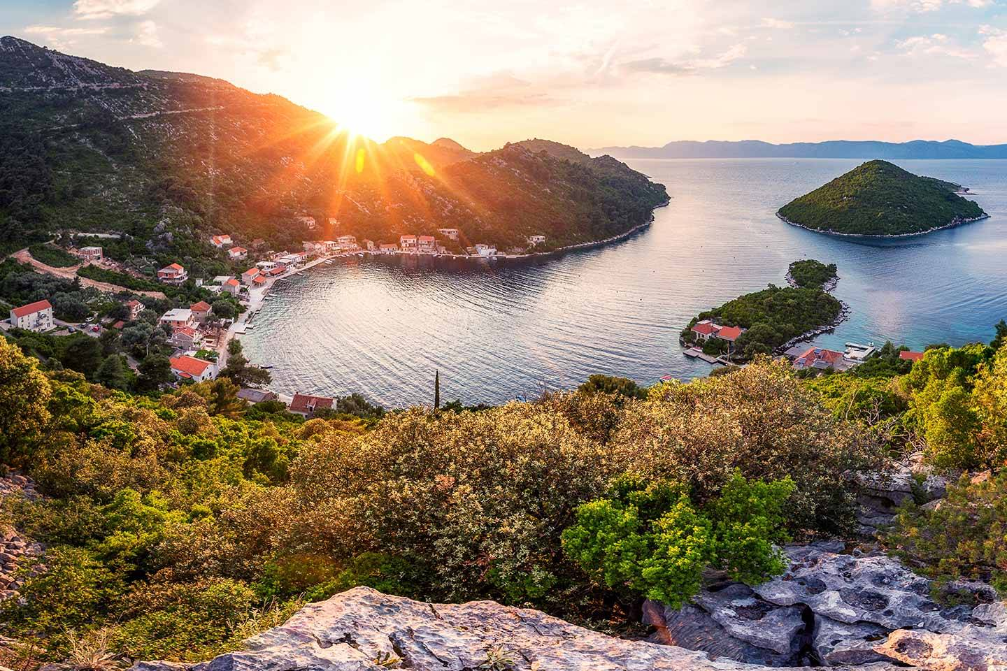 Sun shinning over Mljet