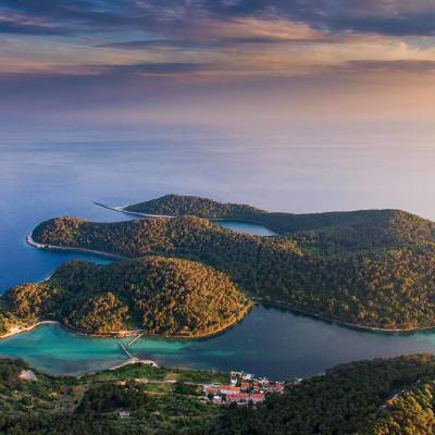 Sunset on Mljet