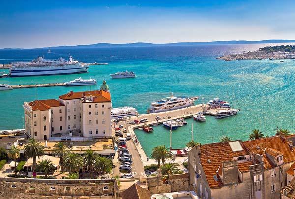 Split Town port Split
