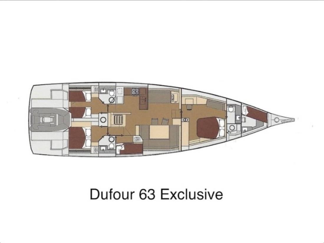 Dufour Exclusive 63    BAHIA FELIZ V