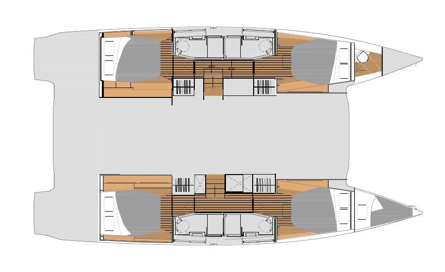 Fountaine Pajot Elba 45    Family with AC and generator