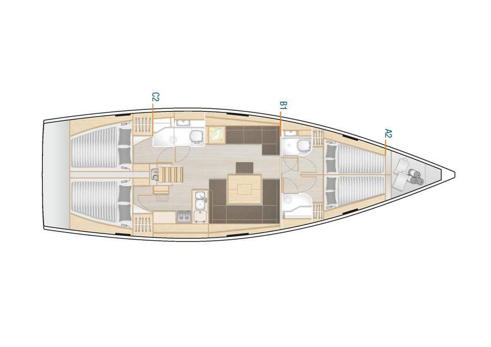 Hanse 458  | Adagio, A/C - shore power only