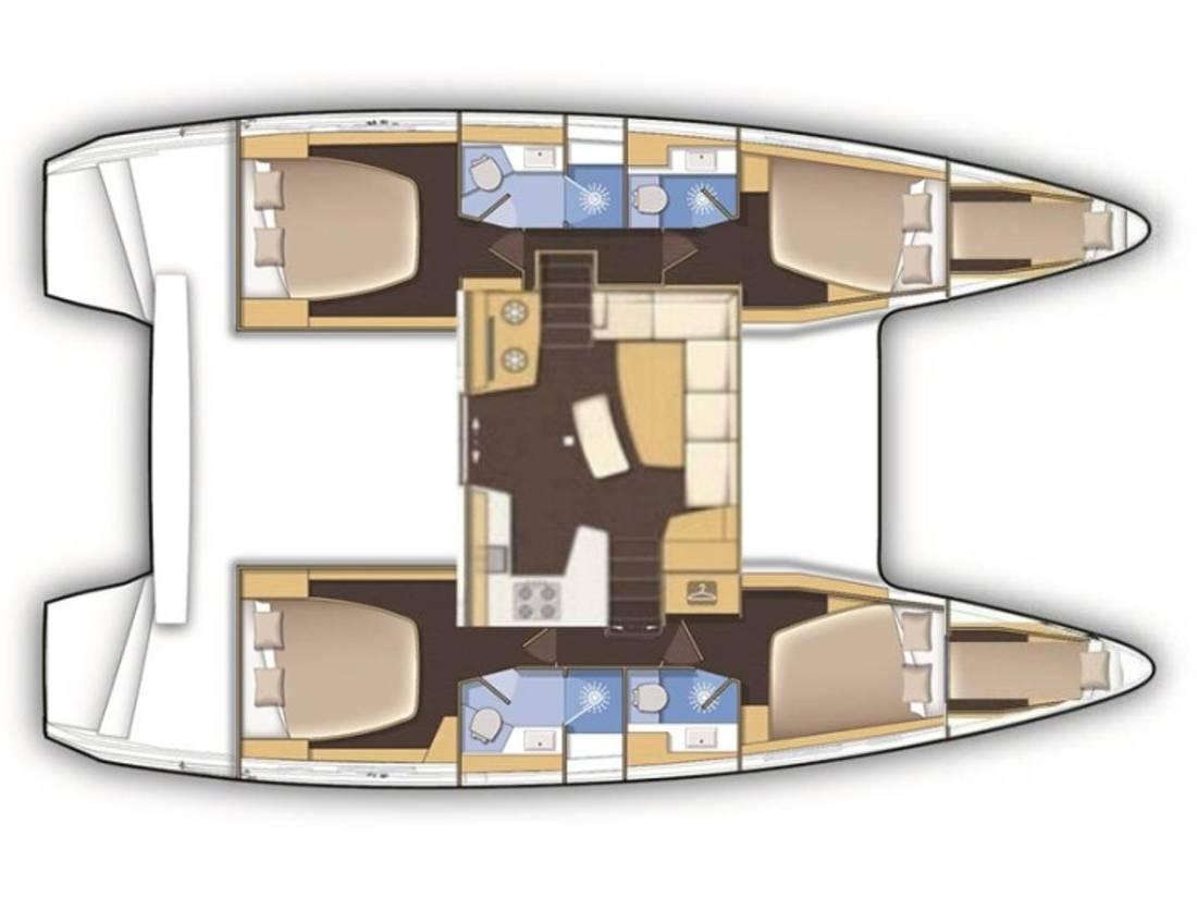 Lagoon 42 | That's Life (AC 4 cabin version, generator, portable icemaker)