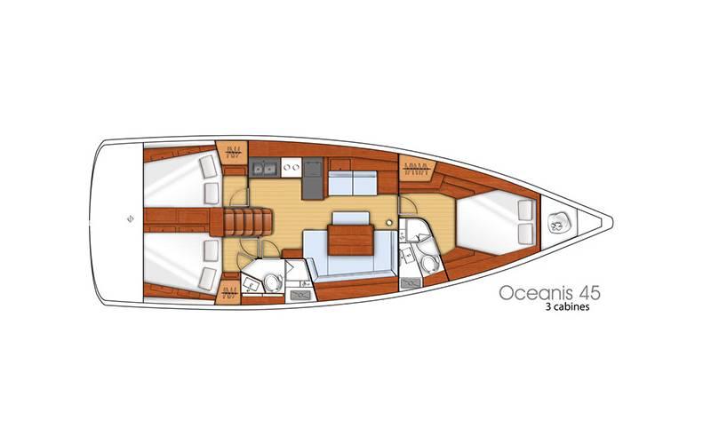 Oceanis 45    Nelly - A/C, GEN - owner's version